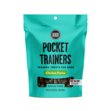 Bixbi Pocket Trainers Chicken Flavor Dog Treats, 6 oz