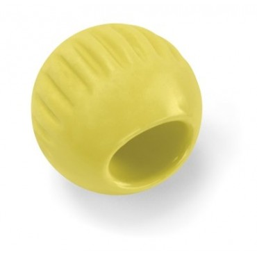 Bionic Baby Ball Rubber Dog Toy, Yellow
