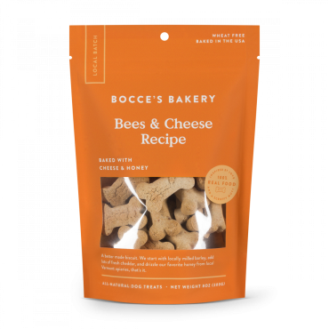 Bocce's Bakery Bees & Cheese Biscuits Dog Treats, 8 oz
