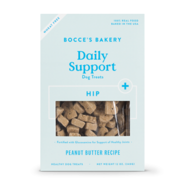 Bocce's Bakery Hip Aid Functional Biscuits with Peanut Butter Dog Treat, 12 oz