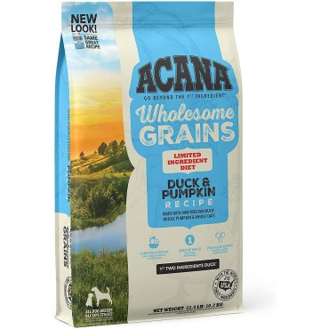 ACANA Duck & Pumpkin Recipe with Wholesome Grains Limited Ingredient Diet Dry Dog Food