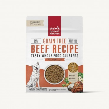 The Honest Kitchen Whole Food Clusters Beef Recipe Grain Free Dry Dog Food