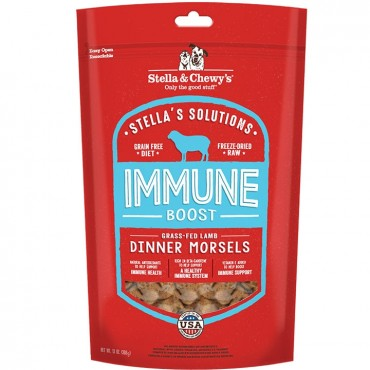 Stella & Chewy's Stella's Solutions Immune Support Grass-Fed Lamb Freeze-Dried Raw Dinner Morsels Dog Food, 13 oz