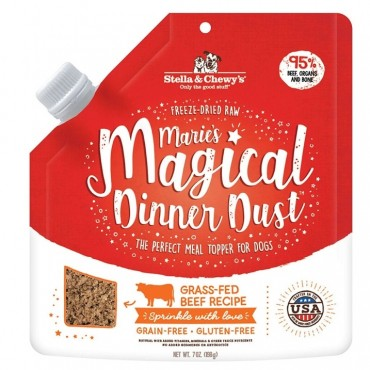 Stella & Chewy's Marie's Magical Dinner Dust Grass-Fed Beef Freeze-Dried Raw Topper Dog Food, 7 oz