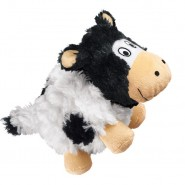 KONG Barnyard Cruncheez Plush Dog Toy, Cow