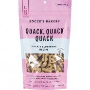 Bocce's Bakery Quack, Quack, Quack Duck & Blueberry Soft & Chewy Dog Treat, 12 oz