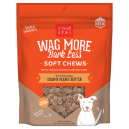 Cloud Star Wag More Bark Less Soft & Chewy Creamy Peanut Butter Dog Treats, 6 oz