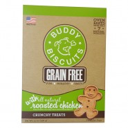 Buddy Biscuits Oven-Baked Grain Free Roasted Chicken Biscuits Dog Treats, 14 oz