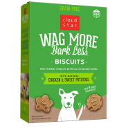 Cloud Star Wag More Bark Less Oven-Baked Biscuits Grain Free Chicken & Sweet Potatoes Dog Treats, 14 oz