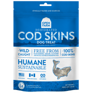 Open Farm Dehydrated Cod Skins Dog Treats, 2.25 oz