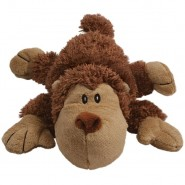 KONG Cozie Spunky the Monkey Plush Dog Toy
