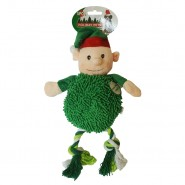 Spot Holiday Giggler Plush Dog Toy, Elf