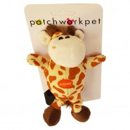 PatchworkPet Mini Wild Giraffe Plush Dog Toy