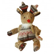 Hugglehounds Knotties Plush Holiday Rudy the Reindeer Dog Toy