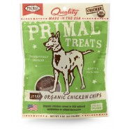 Primal Jerky Organic Chicken Chips Dog Treats, 3 oz