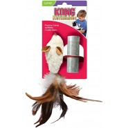 KONG Refillable Catnip Cat Toy, Feather Mouse