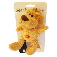PatchworkPet Mini Wild Lion Plush Dog Toy