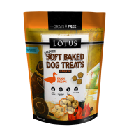 LOTUS Soft Baked Duck Grain-Free Dog Treat, 10 oz