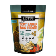 LOTUS Soft Baked Sardine & Herring Grain-Free Dog Treat, 10 oz