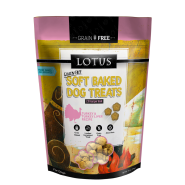 LOTUS Soft Baked Turkey & Turkey Liver  Grain-Free Dog Treat, 10 oz