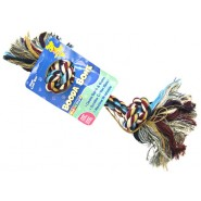 Multicolor 2 Knot Rope Bone Dog Toy