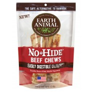 Earth Animal No-Hide Beef Chews Dog Treat, 2 Pack