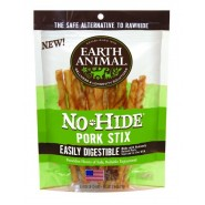 Earth Animal No-Hide Pork Stix Dog Treat, 10 Pack