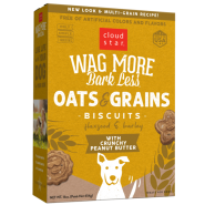 Cloud Star Wag More Bark Less Oven Baked Oats & Grains Biscuits with Crunchy Peanut Butter Dog Treats, 16 oz