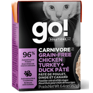 Petcurean Go! Solutions Carnivore Chicken, Turkey & Duck Pate Cat Food