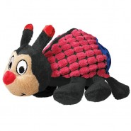 KONG Picnic Patches Plush Dog Toy, Ladybug