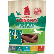 Plato Thinkers Duck Real Sticks Dog Treats, 6.5 oz