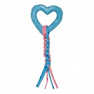Chomper Puppy Tail Waggers Chew With Heart Dog Toy, Blue