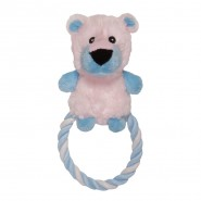 Chomper Puppy Tail Waggers Plush Rope Ring Dog Toy