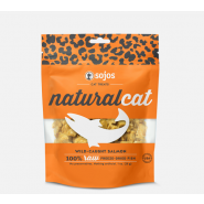 Sojos Natural Cat Wild-Caught Salmon Freeze-Dried Cat Treats, 1 oz