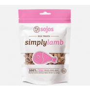 Sojos Simply Lamb Raw Freeze-Dried Dog Treats, 4 oz