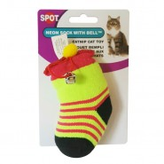 Spot Neon Catnip Sock With Bell Cat Toy