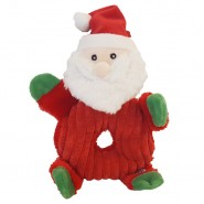 Spot Holiday Donut Crinklers Plush Dog Toy, Santa