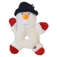 Spot Holiday Donut Crinklers Plush Dog Toy, Snowman