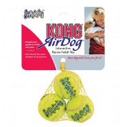 KONG AirDog Squeakair Tennis Ball Dog Toy, 3 Pack (X-Small and Small)