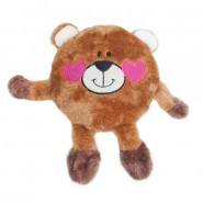 ZippyPaws Valentine's Brainey Bear in Love Dog Toy