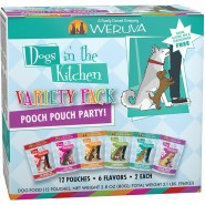 Weruva Dogs In The Kitchen Pooch Pouch Party Variety Pack, 2.8 oz – pack of 12