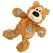 KONG Wild Knots Tan Bear Plush Dog Toy