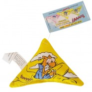 Yeowww! Catnip Purrr!-Muda Triangle Cat Toy, Yellow